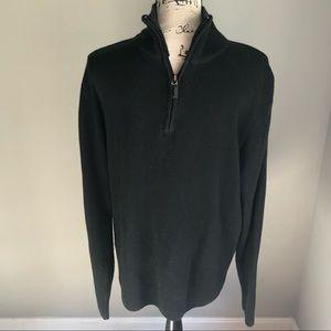 Oscar de la Renta Pullover Sweater Quarter Zip P29
